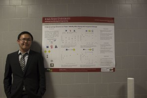 ChE Senior Christoper Lim giving a poster presentation on his research
