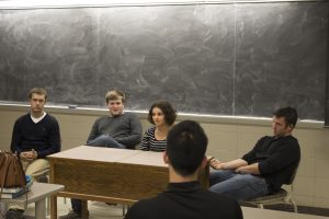 Student panels sharing about their previous internship and co-op experiences